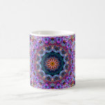 Purple Lotus kaleidoscope Basic White Mug