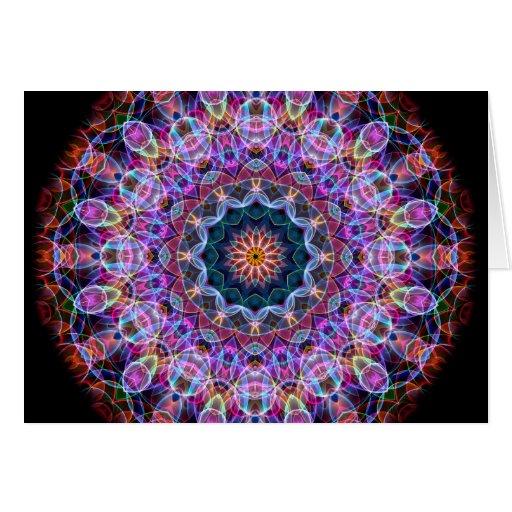 Purple Lotus kaleidoscope Greeting Card