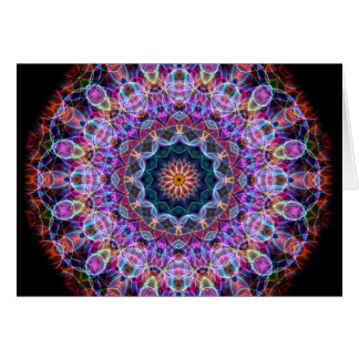 Purple Lotus kaleidoscope Greeting Card