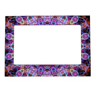 Purple Lotus kaleidoscope Magnetic Frame
