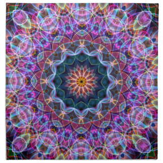 Purple Lotus kaleidoscope Napkin