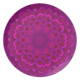 Purple Lotus Kaleidoscope Plate