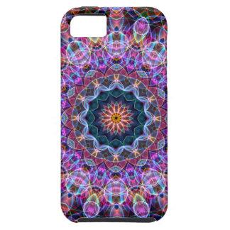 Purple Lotus kaleidoscope Tough iPhone 5 Case