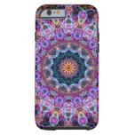 Purple Lotus kaleidoscope Tough iPhone 6 Case