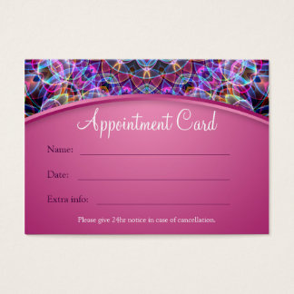 Purple Lotus Mandala Appointment Card - pink