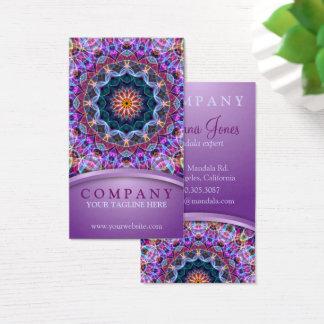Purple Lotus Mandala Business Card