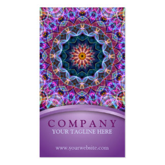 Purple Lotus Mandala Pack Of Standard Business Cards