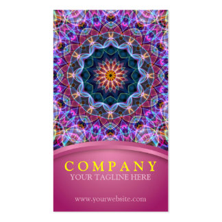 Purple Lotus Mandala with pink Pack Of Standard Business Cards