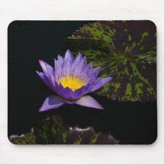 Purple Lotus Waterlily Mouse Pad