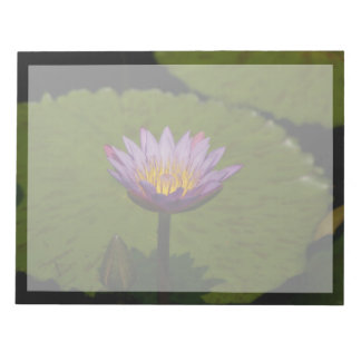 Purple Lotus Waterlily Notepad