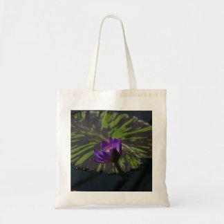 Purple Lotus Waterlily tote bag