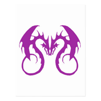 Purple Love Dragons Postcard