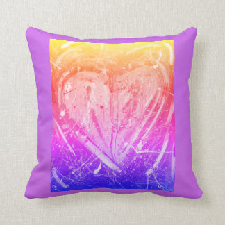 Purple Love Heart Pillow