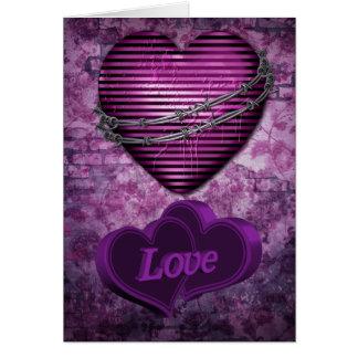 Purple Love Hearts Card