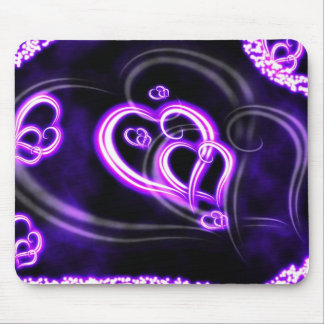 Purple Love Mouse Pad