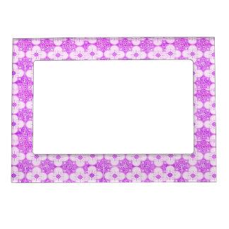 Purple lovely  flowers trendy frame