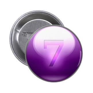 Purple Lucky 7 Pinback Button