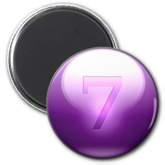 Purple Lucky 7 Refrigerator Magnet