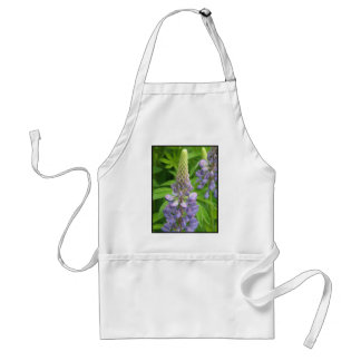 Purple Lupine Flowers Apron