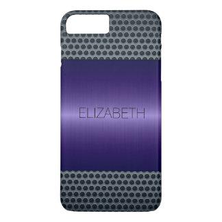 Purple Luxury Stainless Steel Metal Look #2 iPhone 7 Plus Case