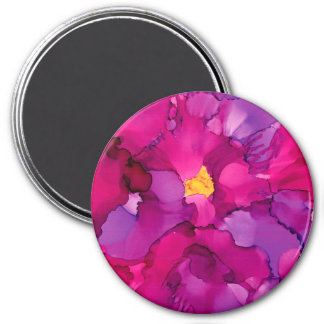 Purple Magenta Abstract Flower Magnet