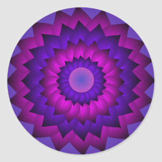 Purple Magenta Flower Art Sticker