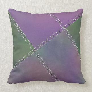 Purple Magenta Green Chains Cushion