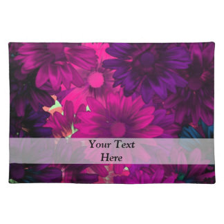 Purple magenta modern floral pattern placemats