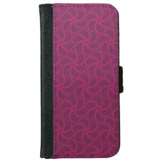 Purple magenta trippy swirly starfish fractals iPhone 6 wallet case