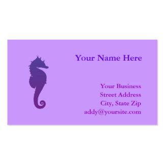 Purple Magic Sea Horse Business Cards
