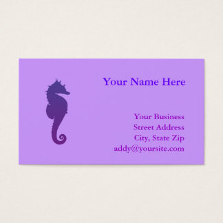 Purple Magic Sea Horse Business Card