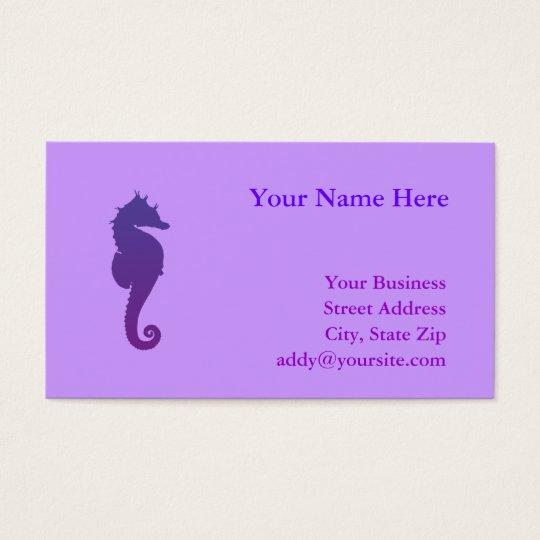Purple Magic Sea Horse Business Card