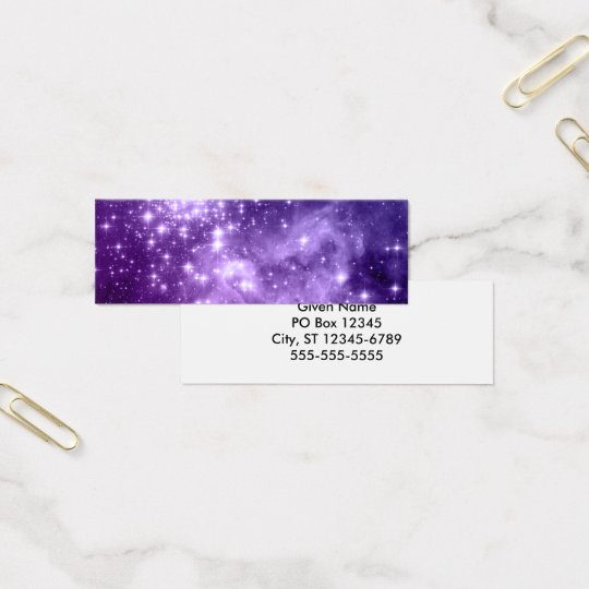 Purple Magic Stars Mini Business Card