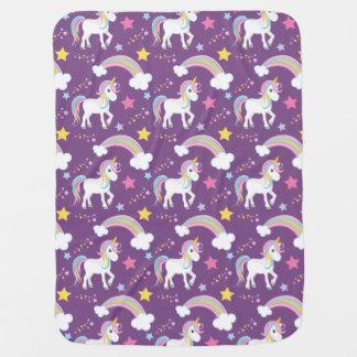 Purple Magical Rainbow Unicorn Baby Baby Blanket
