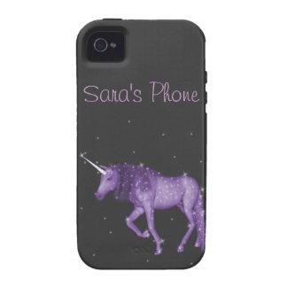Purple Magical Unicorn Vibe iPhone 4 Case