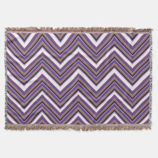 Purple Majesty Chevron Throw Blanket