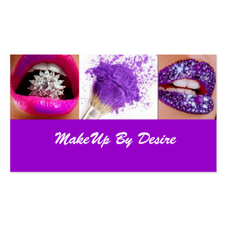 Purple Make Up By Desire Business card