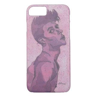 Purple Male Watercolor iPhone Case
