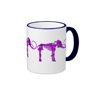 Purple Mammoth Skeleton Mug