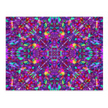Purple Mandala Hippie Pattern Postcards