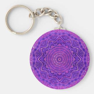 Purple mandala key ring