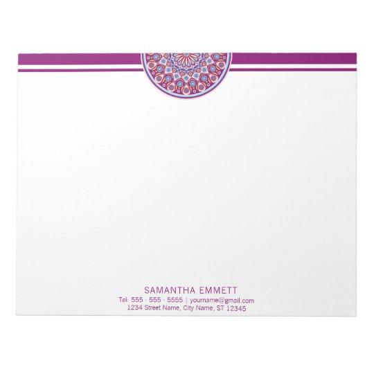 Purple Mandala Modern Professional Notepad