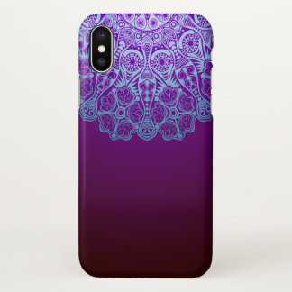 Purple Mandala Pattern iPhone X Case