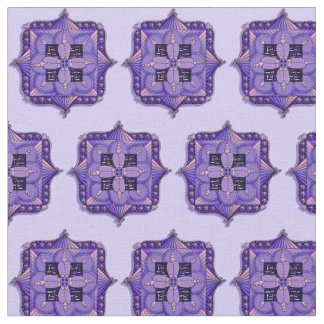 Purple Mandala Patterned Fabric
