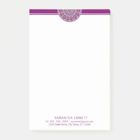 Purple Mandala Professional Modern Post-it® Notes