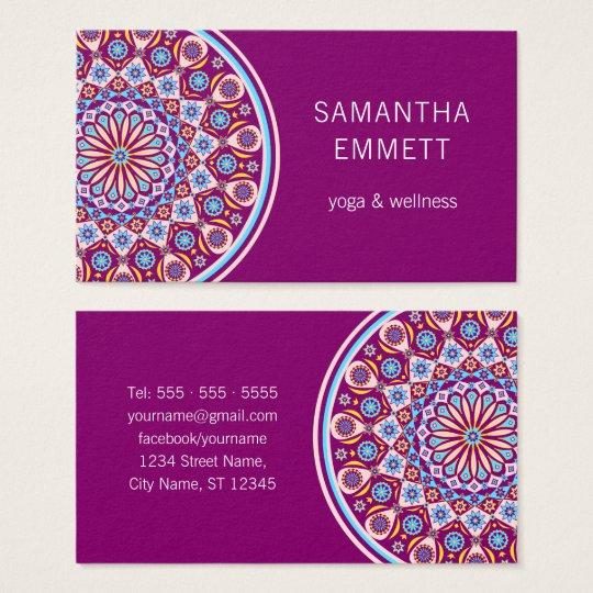 Purple Mandala Professional Yoga Business Card