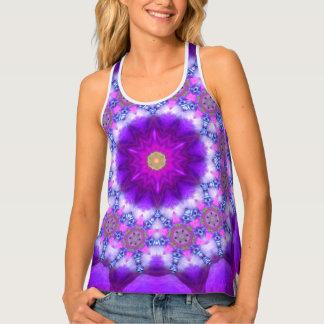 Purple Mandala SeaAngeL12 Yoga Wear Tank Top