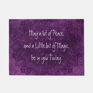 Purple Mandala Spiritual Quote Door Mat