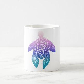 Purple Mandala Turtle Coffee Mug