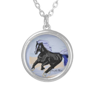 Purple Mane Silver Plated Necklace